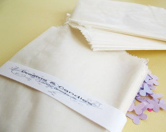 """50 Glassine Paper Bags Size 3 3/4x5"""" 2oz  -White Glassine Bags -Wedding Favor Bags -Candy Bags -Small glassine bags -Packing Bags"""