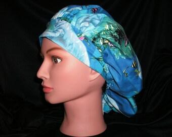 manatee bouffant scrub hat