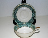 Sale Bavaria porcelain  cup and saucer    mint and gold cup and saucer