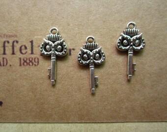 50pcs 21x10mm antique silver owl charms pendant R27016