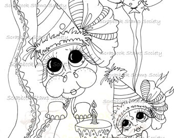INSTANT DOWMLOAD Digital Digi Stamps Big Eye Big Head Dolls Digi  My Besties Tiny The Dragon  IMG674  By Sherri Baldy