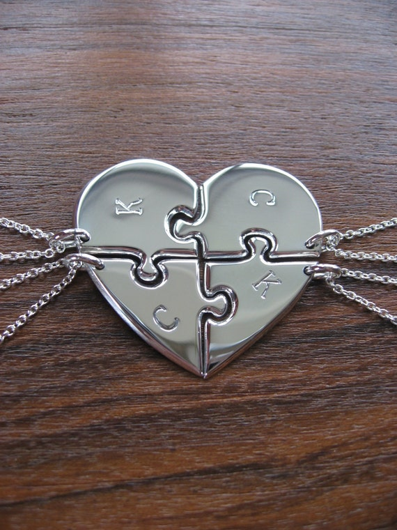 four best friend pendant necklaces
