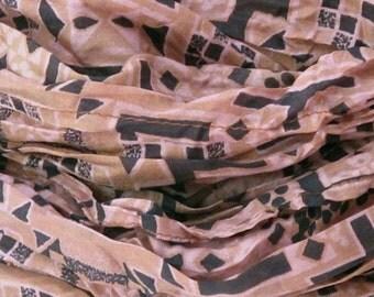Silk scarf, Sari scarf, Scarf