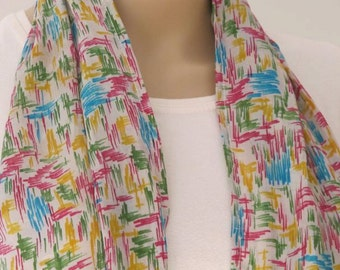 SALE Hand painted Silk scarf