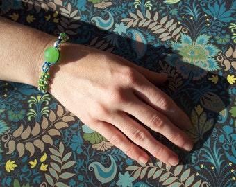 Hemp Hippie Macrame Knotted Beaded Bracelet