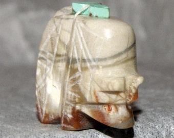 ZUNI BEAR FETISH Marble Prayer Offering c1976 - 1980