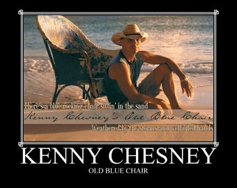 Kenny Chesney Old Blue Chair Mini Music Poster
