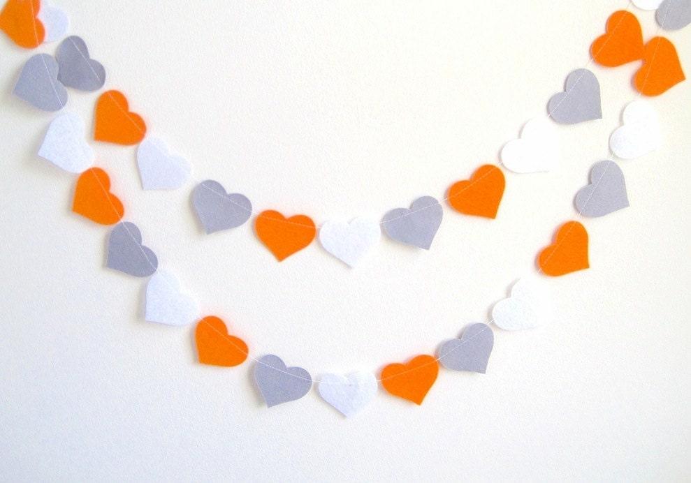 Orange grey nursery decor wedding shower banner gray by for Orange and grey bathroom accessories