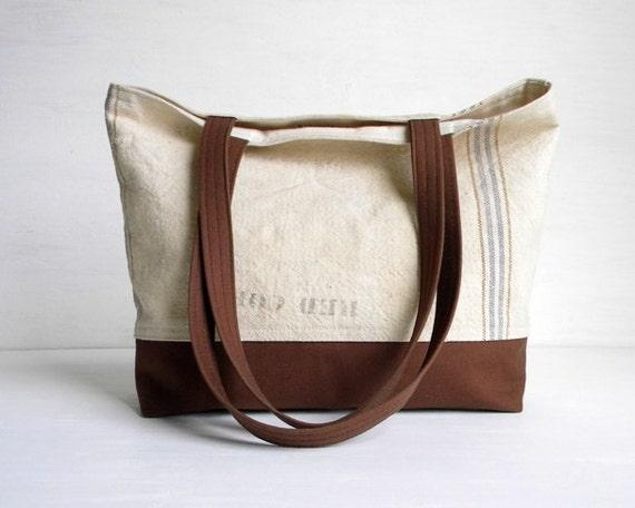 Grain Sack Tote Bag Small