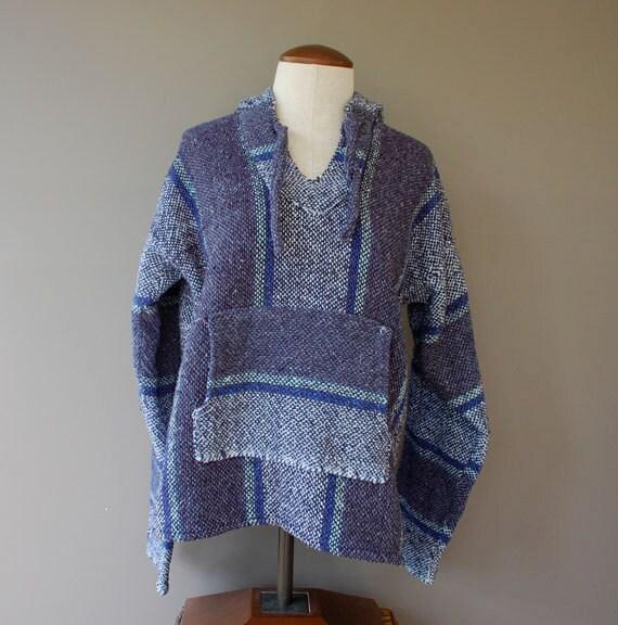 Blue baja hoodie