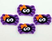 SPIDER - Embroidered Felt Embellishments / Appliques - Purple & Black  (Qnty of 4) SCF3115