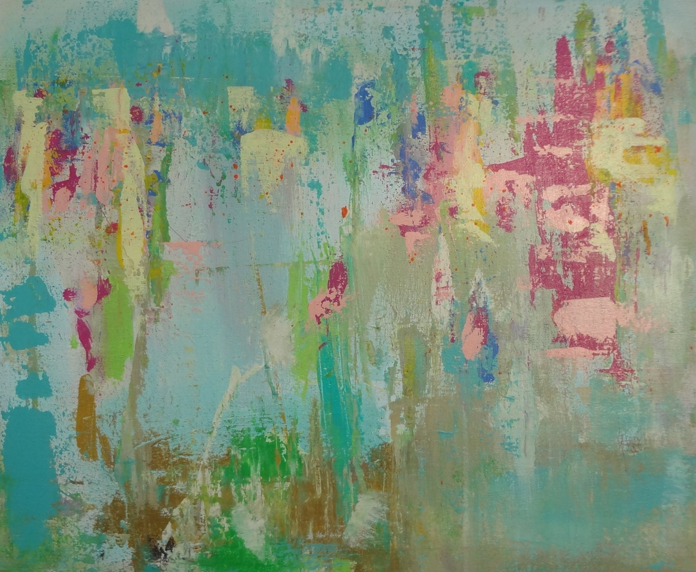 Pink Abstract Canvas Art: Original Abstract Textured Art Pink Magenta By Susanskelleyart