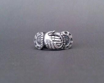 Love Endures - Vintage Fede Gimmel Ring Designer Pywell Sterling Silver