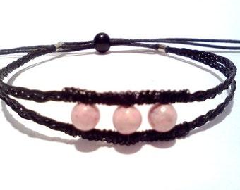 Bracelet-black HORSE HAIR -natural elegance