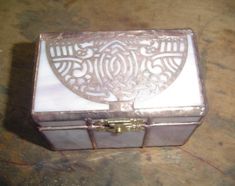 Celtic stained glass box