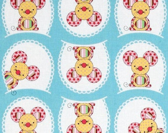 SALE - Windham Fabrics - Toy Tales Collection - Ma Belle Mouse - Aqua Blue