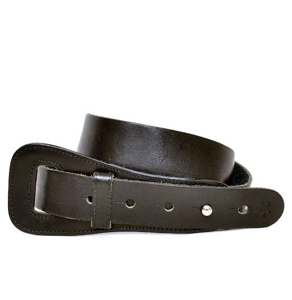 vintage polo black leather wide belt s m vtg by