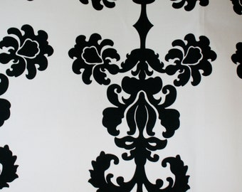 Black and White Damask Pillow Covers in Designer Fabric