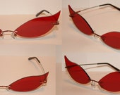 Red Cosplay Costume Sunglasses Glasses V2