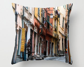 Streets of Italy Pillow Lucca Italy Pillow 16x16 Pillow Nature Photography,Throw Pillows Pillow Cover Only