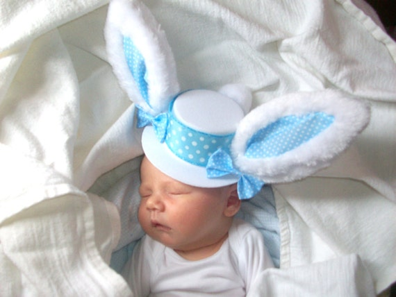 Peter CottonTail Mini Top Hat for Newborns, Infants,Toddlers,Big Girls, Adults...Easter,Spring,Photo Prop,Easter Sunday Wear,Dog Accessory