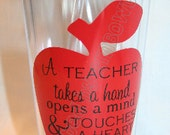 A Teacher Takes a Hand....Tumbler Cup for Teachers. Free personalization. Great Gift Idea.