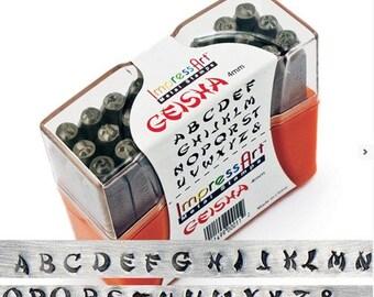 ImpressArt Geisha Letter Stamp Set - Uppercase 4mm
