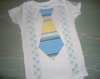 Appliqué Little Guy Suspenders onesie tshirt birthday holiday