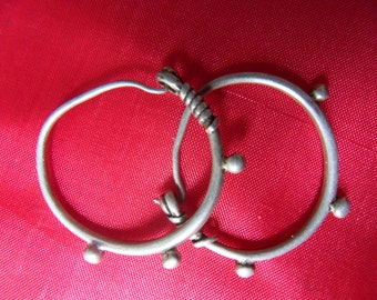 SALE Silver Indus Tribal Earrings was 80 now 60