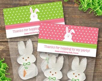 Bunny Gift Bag Toppers Printable