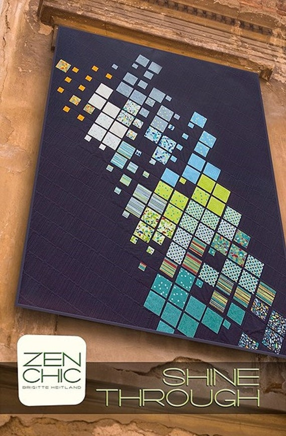 Zen Chic Shine Through Modern Quilting Pattern Squares