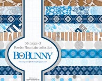 Bo Bunny POWDER MOUNTAIN 6x6 paper pad BoBunny paperpad 6 x 6