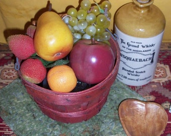 Faux Fruit With New Vintage Basket Rustic Farmhouse Look