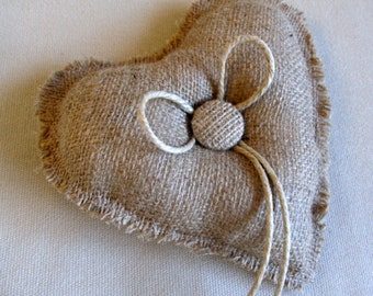 Simple Heart ring bearer pillow