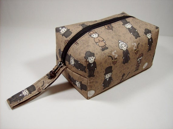 Small Zippered Project Bag - Mini Sherlock Holmes Characters