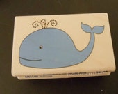 Blue Whale - Brand New Wood Mounted Rubber Stamps