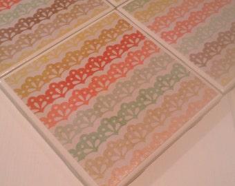Rainbow Crown Coasters Four Piece Ceramic Tile Set