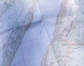 Loch Ness map. Vintage. Scottish. Loch Ness monster map.