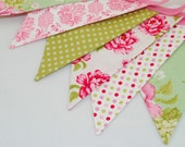 Shabby Chic Party Bunting - TILDA Dotty Blooms - The perfect decoration for Weddings, Parties and Baby Showers