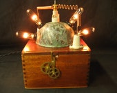 Diabolical Box 70 Steampunk Mad Scientist Lamp Light