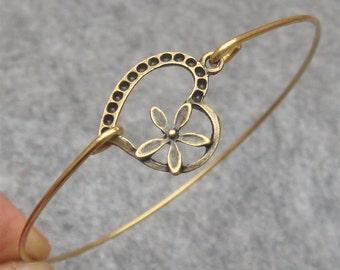 Heart Bangle Bracelet Style 23