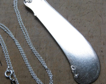 butter knife BLADE recycled silverware necklace