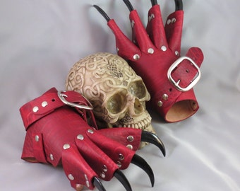 NEW Blood Dragon Claws. Leather Steampunk Gauntlets / Gloves