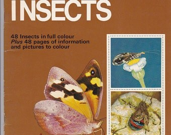 On Sale - Golden Stamp Book of Australian Insects - Vintage 1970s - Vintage Children's Book