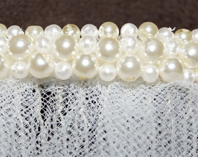 Add clustered Pearls to your veil - (VEIL SOLD SEPARATELY) accessories, ivory, blush, champagne, head accessories 4 brides, combs with beads