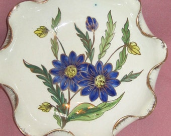 Vintage Hand Painted Dish From Italy