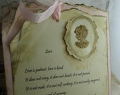 RESERVED for Marissa : Two Ceremony Cards in Cream, White, Pale Pink with Cameo