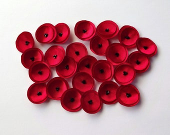 Red Mini Poppies Embellishment