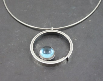 Inga Sterling Silver & Blue Topaz Pendant
