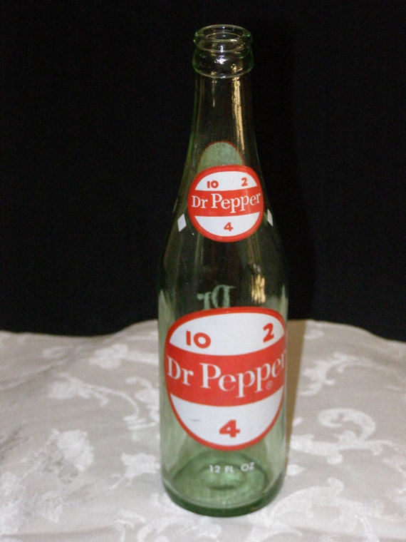 Vintage 1970s Dr. Pepper Bottle 12oz Phoenix 10-2-4 Glass Pop